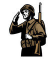 world war soldier vector image