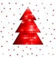 Abstract mosaic christmas tree vector image