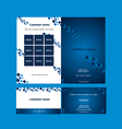 Brochure And Business Card Template vector image