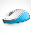 illustrated blue digital mouse vector image
