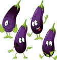 eggplant - funny cartoon vector image