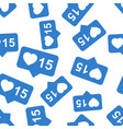 like comment follower seamless pattern background vector image