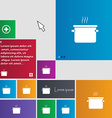 pan cooking icon sign buttons Modern interface vector image
