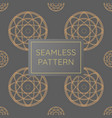 luxury circle rope pattern golden seamless vector image