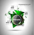 Abstract high tech background with triangula shape vector image vector image