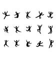 abstract jumping figures vector image
