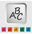 Alphabet icon vector image vector image