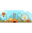 amusement park circus vector image