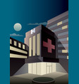 art deco hospital vector image