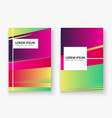 artistic cover set design neon blurred red vector image