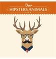 background and greeting card with hipster deer vector image vector image