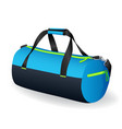 blue black sport bag for sportswear and equipment vector image vector image