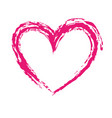 brush drawing heart love romance passion vector image vector image