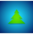 Card Christmas tree vector image vector image