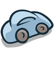 cartoon flat blue car icon vector image