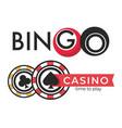 casino isolated icons poker and bingo gambling vector image vector image