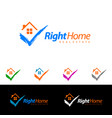 check home real estate design simple realty with vector image