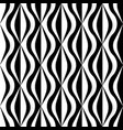 checker curvy pattern in black and white vector image vector image