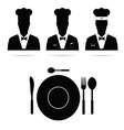 chef cook man silhouette vector image