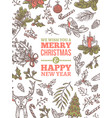 christmas holiday greeting card vector image vector image
