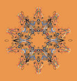 christmas stylized snowflakes on a colored vector image vector image