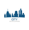 cityscape logo vector image vector image