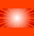 comic red sun rays background pop art retro vector image vector image