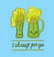 Couple Beer vector image vector image