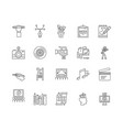 creative arts line icons signs set vector image vector image