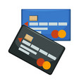 credit and debit cards systems for paying and vector image