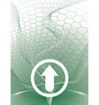 delta arrow green vector image vector image