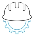 Development Hardhat Outline Icon vector image