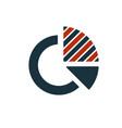 diagram icon creative symbol in two colors pixel vector image vector image
