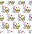 easter basket seamless pattern vector image vector image