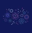 exploding festival firework festive show in night vector image