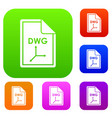 file dwg set collection vector image vector image