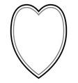 fine valentine heart vector image