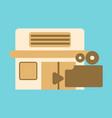 flat icon building cinema camera vector image vector image