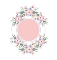 floral vignette in form a circle vector image vector image