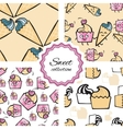 Friendly cheerful Seamless pattern with hand drawn vector image