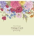 Gentle Retro Summer Floral Greeting Card Vintage vector image vector image