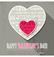 grey background with two valentine hearts vector image vector image