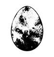 grunge egg isolated vector image vector image