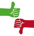 hand gesture design vector image