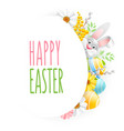 happy easter greeting vector image vector image