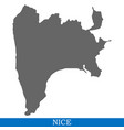 high quality map city of france vector image
