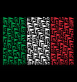 italy flag pattern of triangle flag icons vector image