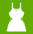 little dress icon green vector image vector image
