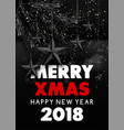 merry xmas happy new year 2018 greeting vector image vector image