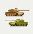 military tank army concept war weapon battle vector image vector image